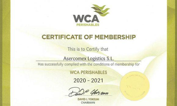 Transporte de productos perecederos certificado por la WCA